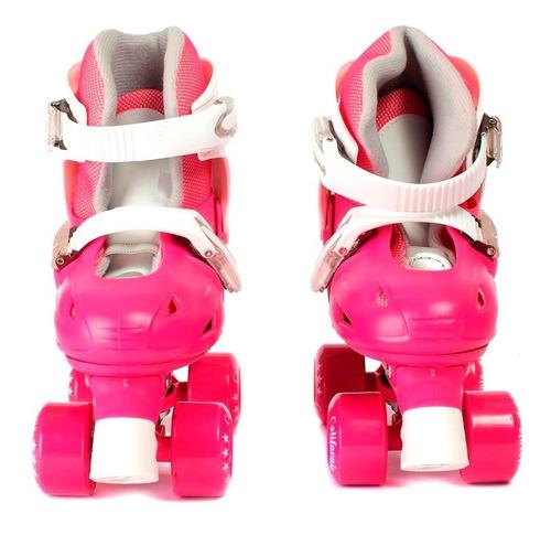 roller patin ajustable talle 37 al 40 rosa excelente calidad
