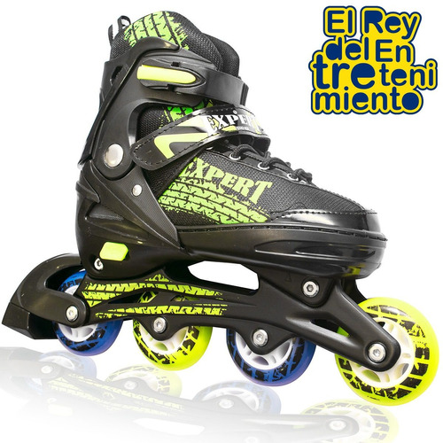 roller patin expert aluminio extensible abec + bolso el rey