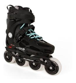 42.5 Rollerblade Twister 80/Inline Skate 2017/Black//naranja