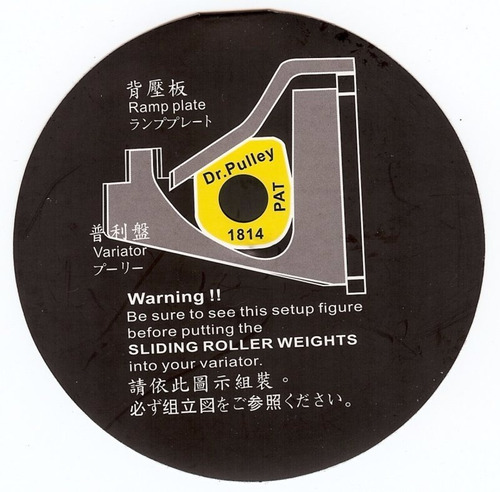 rollers ( dados)  dr pulley para yamaha n max 155