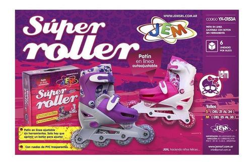 rollers para nena 4 en linea 31 a 34 y 35 a 38 jem