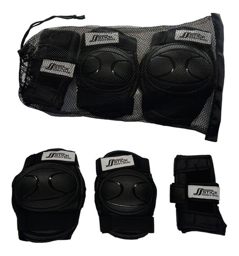 rollers patines extensibles abec9 + bolso + protecciones kit