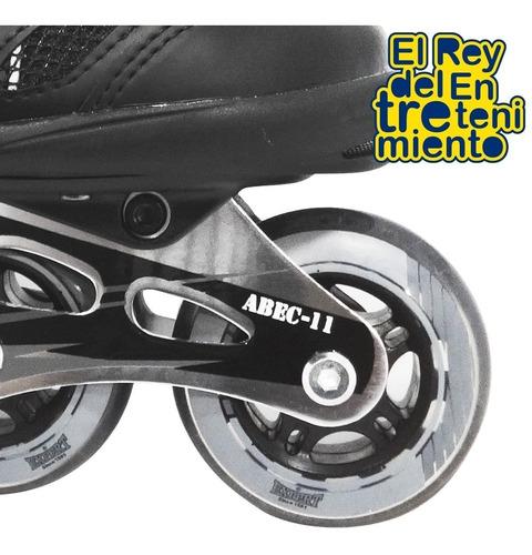 rollers super profesional aluminio silicona abec11 - el rey