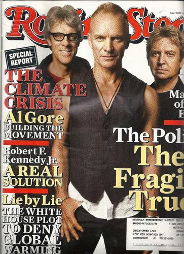 rolling stone: sting / the police / jack white / al gore