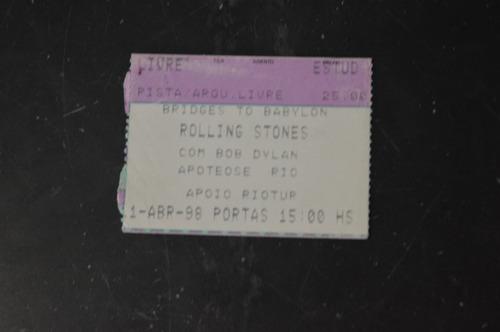 rolling stones bob dylan rio de janeiro 1998 ingresso