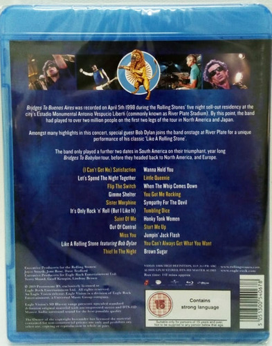 rolling stones bridges to buenos aires blu ray 2019