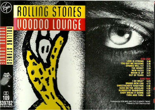 rolling stones   cassette   voodoo lounge
