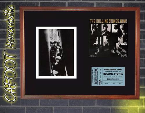 rolling stones gira americana 1966 tapa lp, entrada y foto