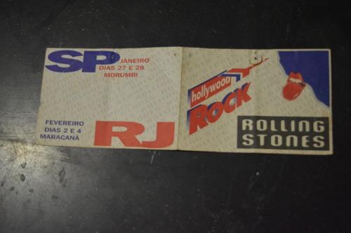 rolling stones hollywood rock 1995 ingresso