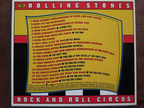 rolling stones - rock and roll circus. cd hecho en usa