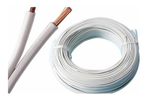rollo 100 metros cable gemelo 2 x 2 mm color blanco