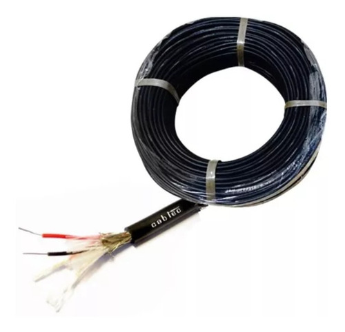 rollo 100m cable dmx iluminacion 6,5mm 120 ohm cabtec