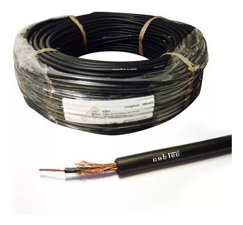 rollo 100m cable mono audio sonido microfono 5,7mm cabtec