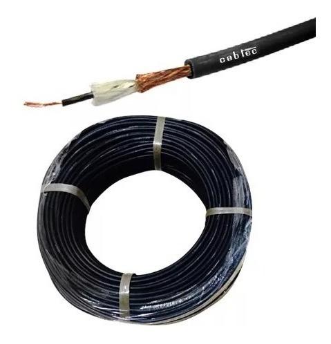 rollo 100m cable mono audio sonido microfono 6mm cabtec