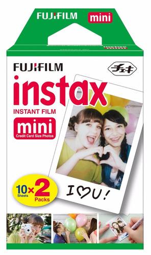 rollo 20 fotos instax mini 8 fuji film cámara instantánea