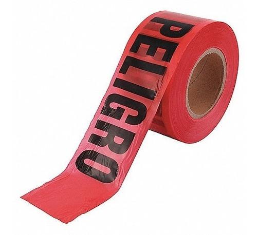 rollo 305 mt x 7.5 cm cinta barricada peligro delimitante