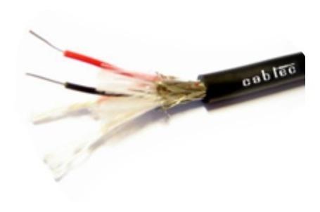 rollo 50m cable dmx iluminacion 6,5mm 120 ohm cabtec