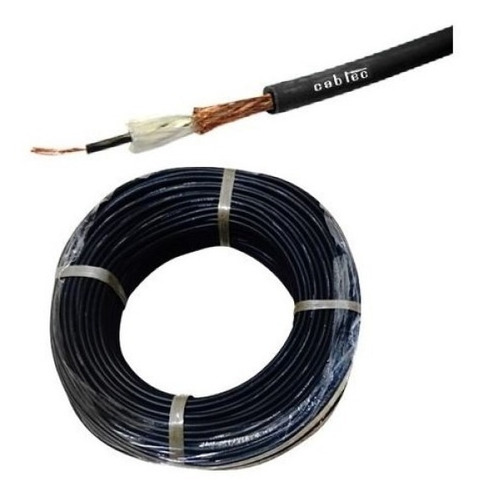 rollo 50m cable mono audio sonido microfono 6mm cabtec