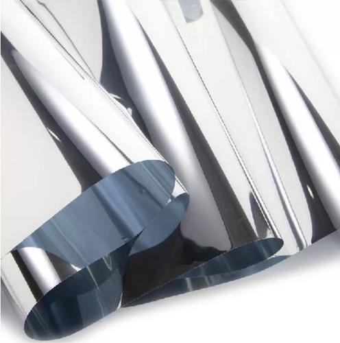 rollo 5mt-oferta lamina efecto espejado plata 1,5ancho