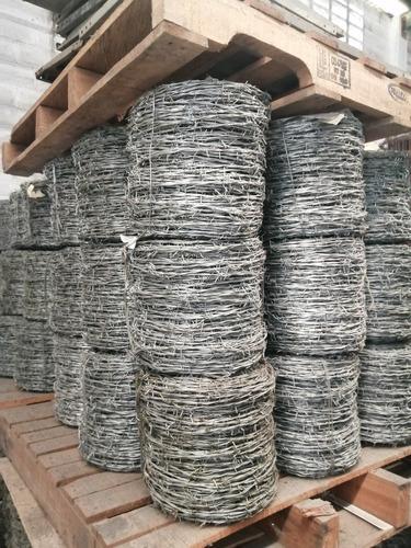 rollo alambre púa calibre 14 de 400 mts x 30 kilos