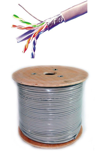 rollo cable de red utp cat 6 categoria 6 305m +25 conectores