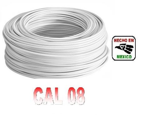 rollo cable eléctrico calibre 08 100 metros blanco regalalo