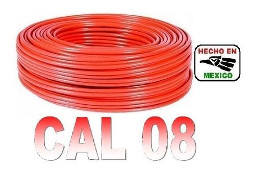 rollo cable eléctrico calibre 08 100 metros rojo regalalo