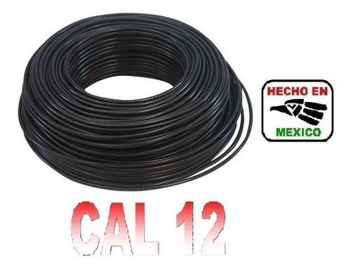 rollo cable eléctrico calibre 12 100 metros negro regalalo