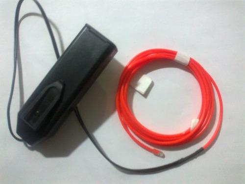 rollo cable electroluminiscente el wire rojo
