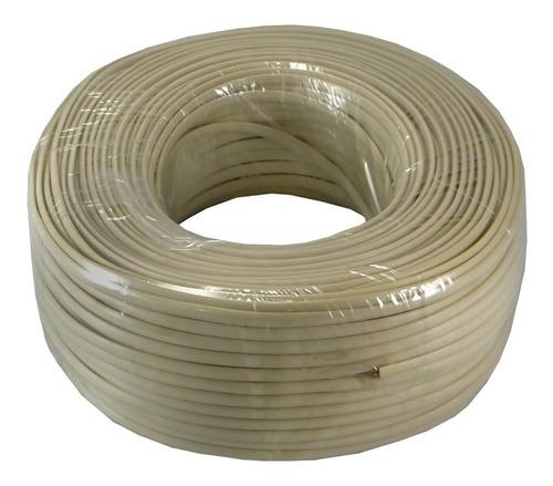rollo cable telefónico 4 hilos / 2 pares x 100 metros. nuevo