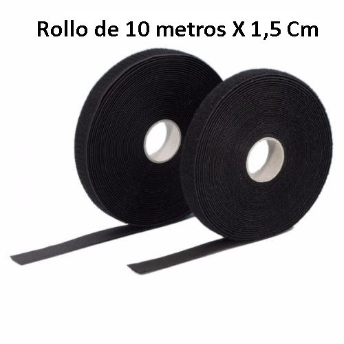 rollo cinta 10.m x15.mm amarra cable utp organiza red velcro
