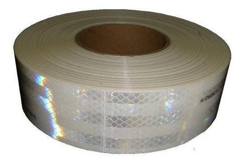 rollo cinta reflectiva blanca homologada auto camion 45.7m