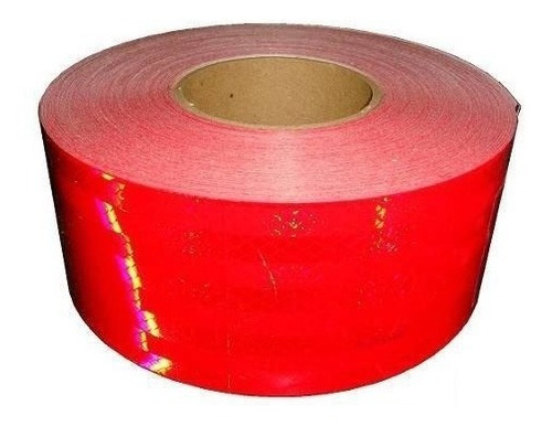 rollo cinta reflectiva roja homologada auto camion 45.7m