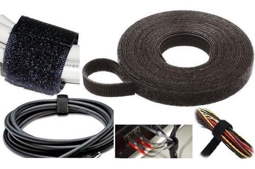 rollo cintas 10 m organiza rack amarra cable red utp velcro