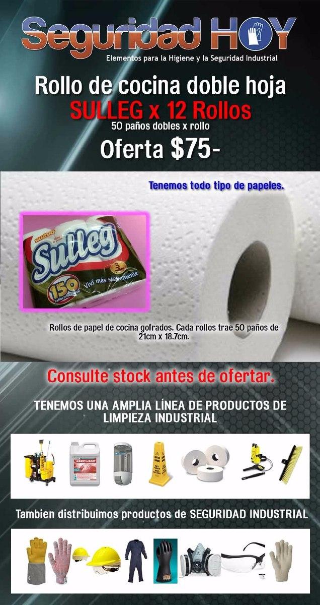 Rollo De Cocina - Bolsón X 12 Rollos - Sulleg - D/hoja - 50p - $ 99 ...