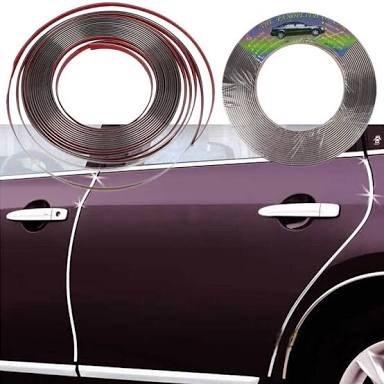Rollo cromado para molduras de puertas de auto 5mts en mercado libre - Molduras para puertas ...