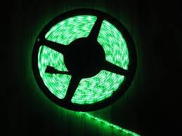 rollo de 5 metros tira de leds 5050 exterior verde 60l/m