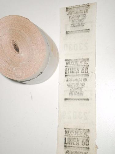 rollo de 500 boletos colectivo linea 60 diferencial