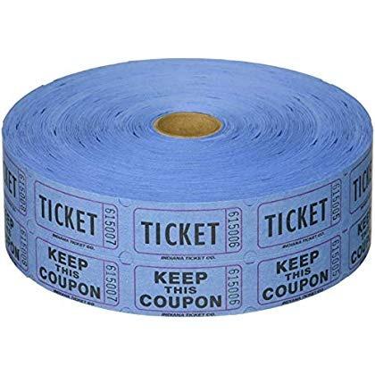 rollo de boletos de la rifa doble azul 2000...