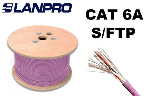 rollo de cable sftp cat6a categoria 6a lanpro blindado 305m