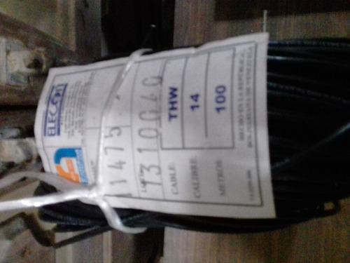 rollo de cable thw n° 14 awg negro marca elecon (100m).