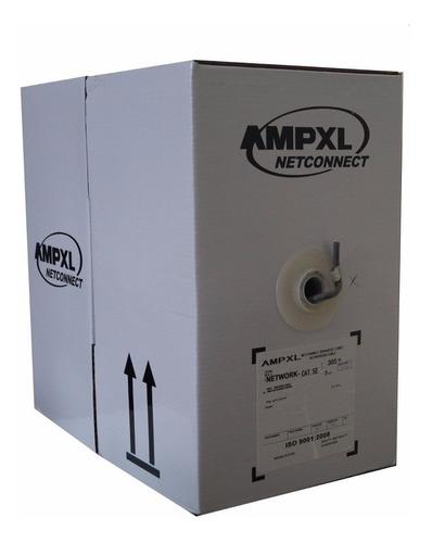 rollo de cable utp ampxl cat5e 100m blanco red datos camaras