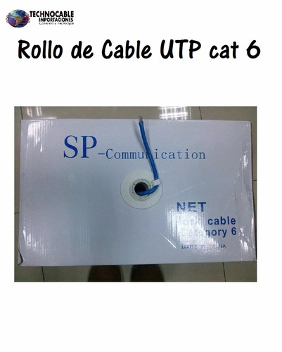 rollo de cable utp cat 6 de 305 metros