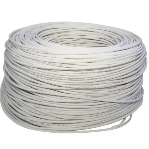 rollo de cable viggo 305mts cat5e indoor blanco cctv camaras