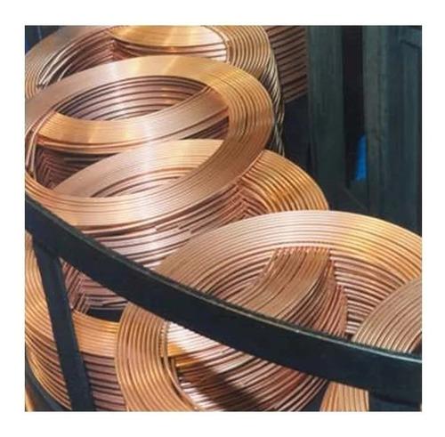 rollo de caño de cobre de 1/2 x 15 mts