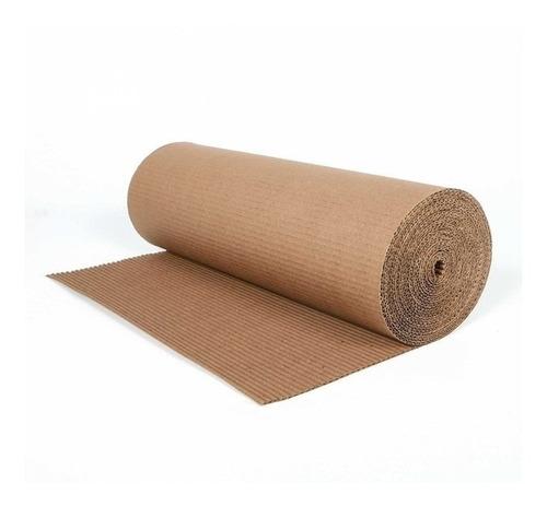 rollo de carton corrugado 1 metro x 25 metros de largo