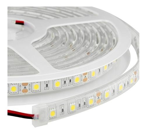 rollo de cinta tira de led 5 metros luz día adhesiva a 220v