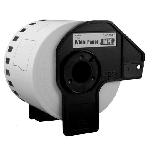 rollo de etiquetas brother dk2205 para ql700 ql570 62mm 30m