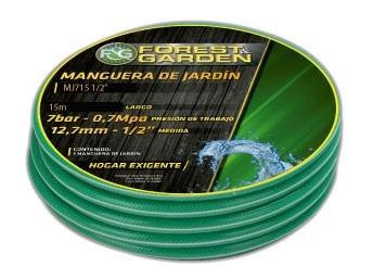 rollo de manguera de jardin 15mts forest & garden mj7151/2