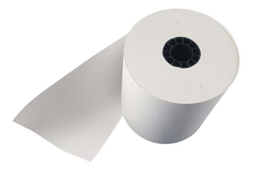 rollo de papel bond de 80mm 1 tiro 60 u/n caja rolliticos